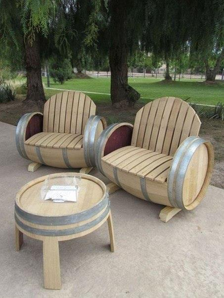 chair and chairs with barrels
