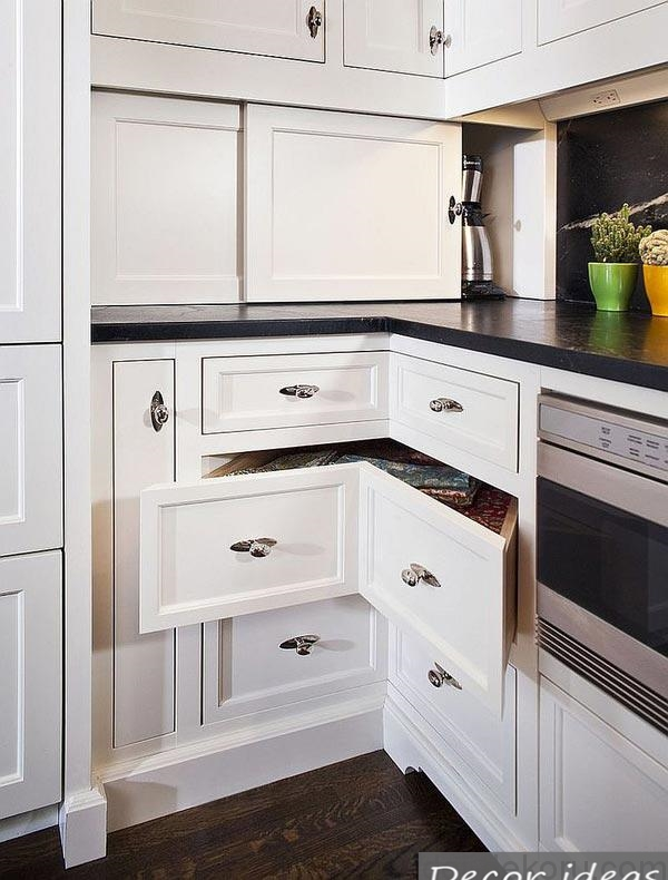 Corner boxes in the kitchen ideas