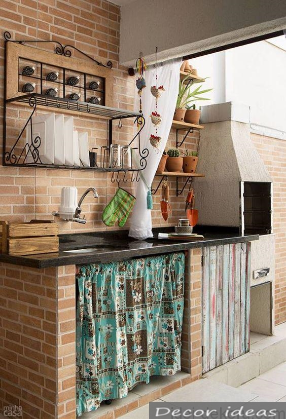 oven brick kitchen