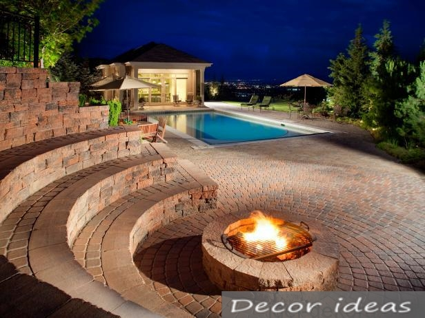 bonfire pool beautiful
