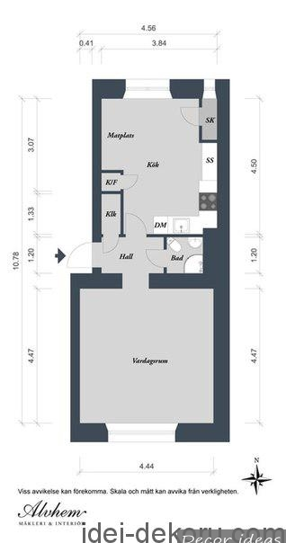 Ideal layout for an apartment