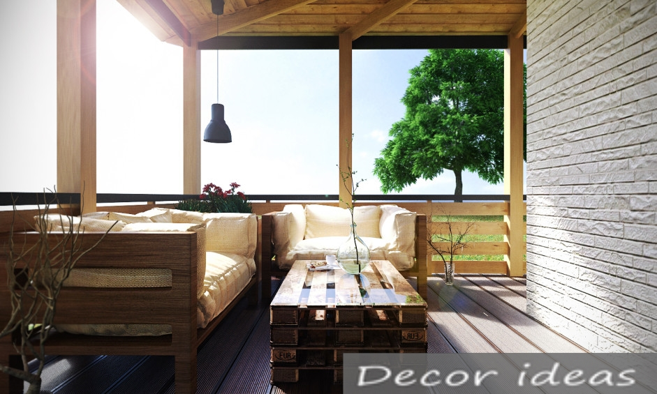 terrace wood sofa house