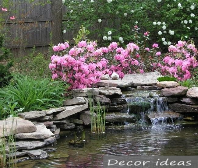 waterfall flower stone