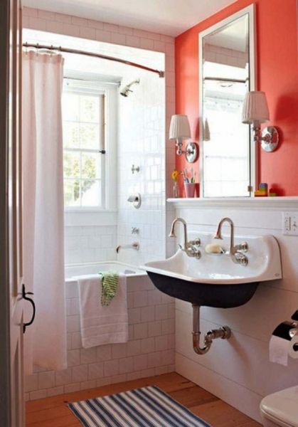 Dreams About Going To The Bathroom. Add orange accent in the bathroom and love decor every day 15 Irresistible  Small Bathroom Design That You are Going to Love The Best 98 Dreams About To Home Decor