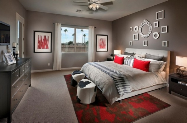 20 Exquisite Red And Gray Bedroom Design Ideas That Will Absolutely Impress You