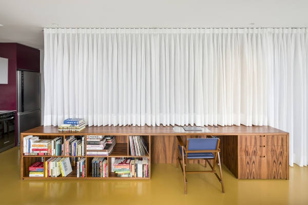 personal space can be separated with textile curtains